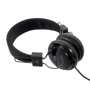 JKR 101 3.5mm Wired Stereo Headphone Over-ear Headset with Mic (CE Certification) - Black