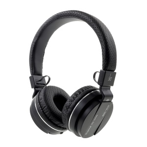 JKR 109 3.5mm Plug Wired Stereo Headphone Over-ear HiFi Headset with Mic (CE Certification) - Black