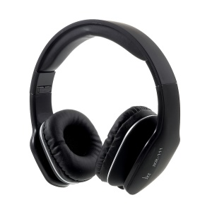 JKR 111 3.5mm Foldable HiFi Stereo Headphone with Mic & Remote Control - Black