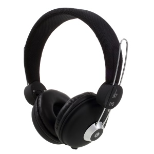 JKR 110 3.5mm HiFi Stereo Headphone Foldable Over-ear Earphone with Mic - Black