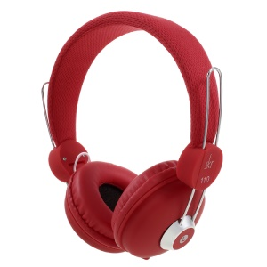 JKR 110 HiFi Stereo 3.5mm Wired Headphone Foldable Over-ear Headset with Mic - Red