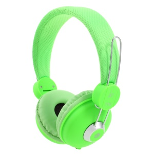 JKR 110 Foldable 3.5mm Wired Headphone HiFi Stereo Over-ear Headset with Mic - Green