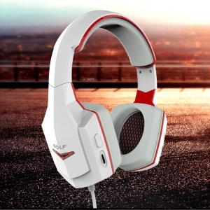 GOLF MX01 HiFi Wired Headphone Over-head Stereo Headset - White