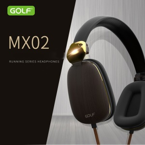 GOLF MX02 Running Series Headphones 3.5mm Stereo Headphones Over-ear Earphone with Mic - Black