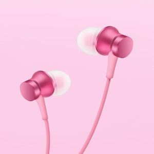 XIAOMI Piston Basic Edition 3.5mm Wired In-ear Earphone with Mic and Remote Control - Pink