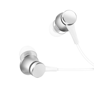 XIAOMI Piston Earphone Basic Edition 3.5mm Wired In-ear Headset with Mic and Remote Control - Silver Color