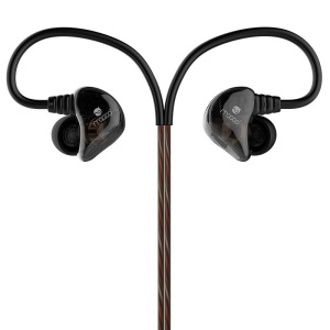 MOGCO IE-M10 Dual Moving Unit 3.5mm In-ear Earphone with Mic and Remote Control - Black