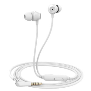 MOGCO IE-M11 3.5mm Wired Mega Bass In-ear Earphone for Samsung S7 / Huawei Mate 9 - White