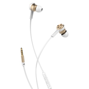 BASEUS Encok Wire Earphone In-ear Headphone with Drive-by-wire Control (H01) for Samsung S8 - Gold Color
