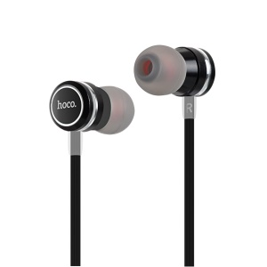 HOCO Universal 3.5mm Wired Headset com microfone e controle on-line para iPhone Samsung - preto