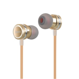 HOCO Universal 3.5mm Wired Earphone with Mic and Remote Control for iPhone Samsung - Gold