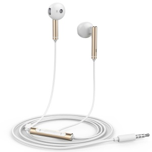 OEM AM116 HUAWEI 3.5mm In-ear Earphone Headset with Mic for iPhone Samsung Huawei - Gold Color