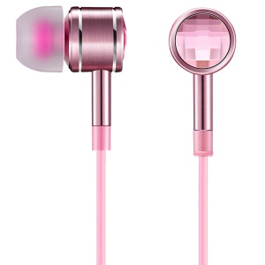 1MORE 1M301 1.25m In-ear Crystal Headphone with Remote and Mic for iPhone Samsung etc. - Pink