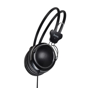 HOCO W5 Manno Wired Over-ear Stereo Headphone with Remote Control and Mic for Samsung Galaxy S8 - Black