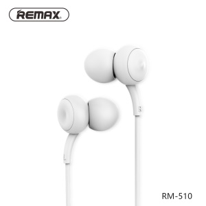 REMAX 510 3.5mm In-ear Touch Music Wired Earphone Headset with Mic for iPhone Samsung Sony - White