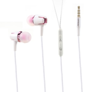 PINZUN E18 3.5mm In-ear Headset with Microphone for iPhone Samsung Huawei - Pink