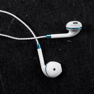 PINZUN P13 3.5mm In-ear Earbud Headset with Microphone for iPhone Samsung Huawei - Blue