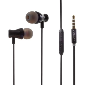 PINZUN Q8 3.5mm In-ear Earphone Headset with Mic for iPhone Samsung Sony - Black