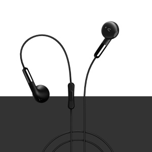 USAMS EP-15 In-ear Corded Headset with Built-in Remote Control and Mic for iPhone Samsung Huawei - Black