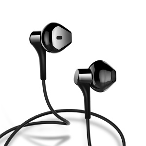 USAMS EP-17 In-ear Wired Earphone with Mic (1.2m) for iPhone Samsung HTC Sony Huawei Etc. - Black