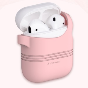 ISMILE Soft Silicone Protective Cover Shell for Apple Airpods Charging Case - Pink