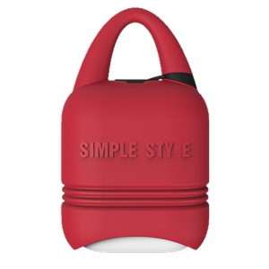 ISMILE Simple Style Anti-lost Silicone Protection Cover Case for Apple Airpods Charging Case - Red