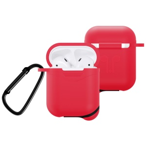 Mini Waterproof Dust-proof Drop-proof Silicone Cover for Apple AirPods - Red