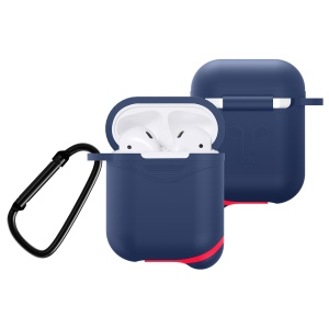 Mini Waterproof Dust-proof Drop-proof Silicone Case Protector for Apple AirPods with Charging Case (2016) - Dark Blue