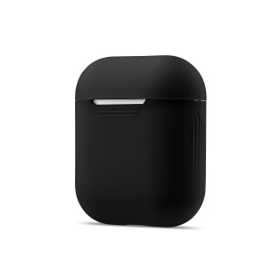 Soft Silicone Dust-proof Case for Apple AirPods Charging Case - Black