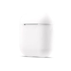 Soft Silicone Dust-proof Cover for Apple AirPods Charging Case - White