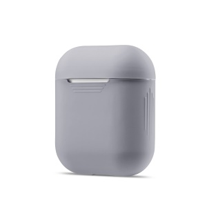 Soft Silicone Dust-proof Cover Shell for Apple AirPods Charging Case - Grey