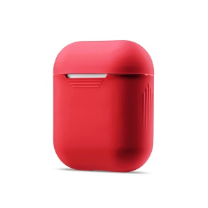 Soft Silicone Dust-proof Protective Case for Apple AirPods Charging Case - Red