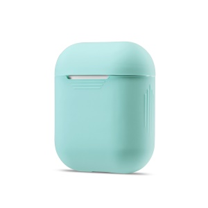 Soft Silicone Shockproof Casing Cover for Apple AirPods Charging Case - Cyan