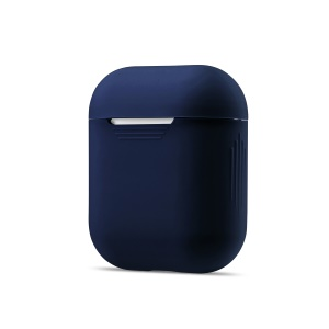 Soft Silicone Shockproof Protective Case for Apple AirPods Charging Case - Dark Blue