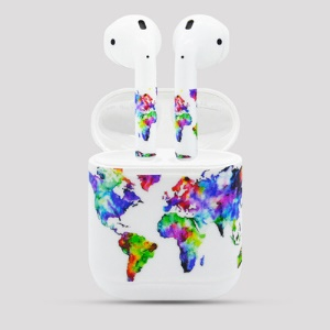 Flowers Pattern Decal Sticker for Apple Airpods Earbud & Charging Box
