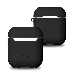 Shock-proof TPU + PC Protective Case for Apple AirPods Bluetooth Headset Charging Case - Black