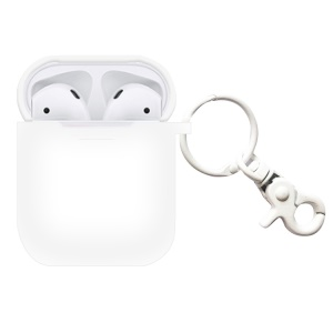 Shock-proof Silicone Protection Cover for Apple AirPods Charging Case - White