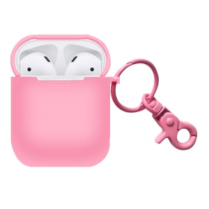Silicone Protective Cover for AirPods with Charging Case (2016) - Pink