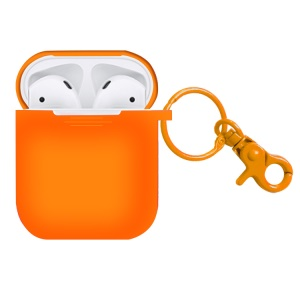 Silicone Shock-proof Cover Case for Apple AirPods Charging Case - Orange