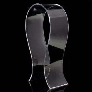U-shape Clear Acrylic Display Stand for Over-ear Headphone Headset