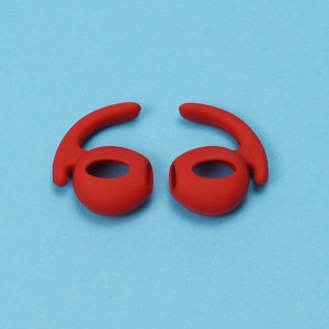 5 Pair/Set Silicone Ear Hooks Skin Cover Holders for Apple AirPods - Red