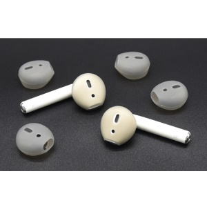 10Pairs / Pack of Anti-slip Silicone Skin Cover Earcaps for Apple AirPods - Grey