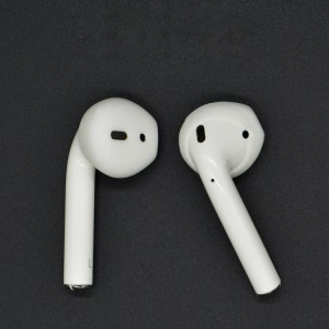 10Pairs / Pack of Anti-slip Silicone Skin Cover Earcaps for Apple AirPods - White