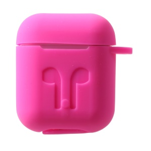 Silicone Protective Case for Apple AirPods Charging Case with Carabiner - Rose