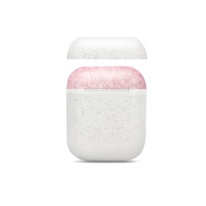 Flash Powder Dust-proof Drop-proof Silicone Cover for Apple AirPods - White Case / (Pink + White) Lids