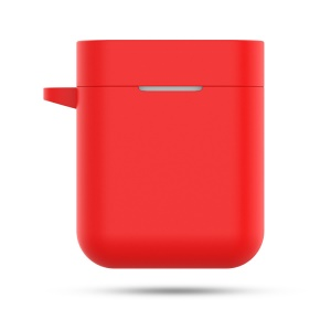 Soft Silicone Shockproof Case with Carabiner for Xiaomi Mi Air TWS Bluetooth Headset - Red