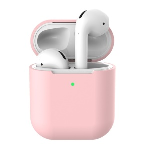 Soft Silicone Case for Apple AirPods with Wireless Charging Case (2019) - Light Pink