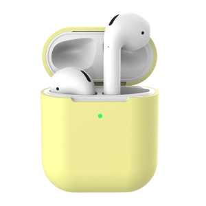 Soft Silicone Case for Apple AirPods with Wireless Charging Case (2019) - Yellow