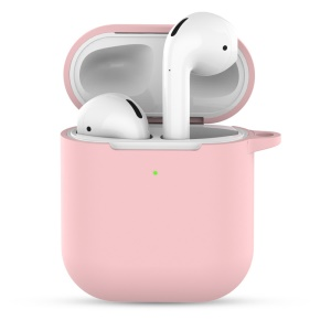 Silicone Case with Keychain for Apple AirPods with Charging Case (2019) - Rose Gold