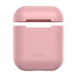 BASEUS Ultra-thin Silicone Protective Case for AirPods with Charging Case (2016)/AirPods with Charging Case (2019) - Pink